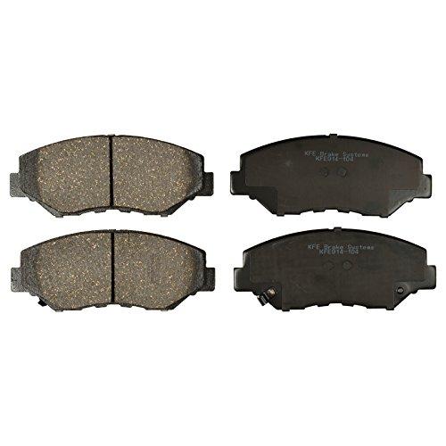 KFE KFE914-104 Ultra Quiet Advanced Premium Ceramic Disc Brake Pad FRONT Set For: Honda CR-V, CRV, 03-15 Accord, Civic, Element, Pilot; Acura ILX
