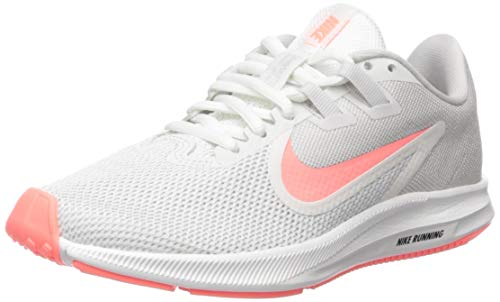 Nike Women's Downshifter 9 Running Shoe, vast Grey/Lava Glow-Summit White, 8.5 Regular US