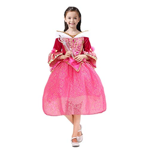『DreamHigh 眠れる森の美女 オーロラ姫 女の子用 コスチューム ドレス 3-10歳』の4枚目の画像