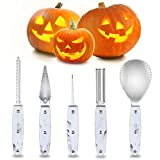 2019 Professional Halloween Pumpkin Carving Kit, Heavy Duty Stainless Steel Carving Tools Set for...