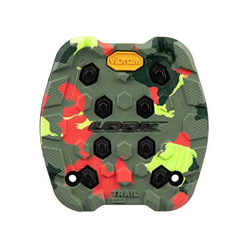 LOOK Cycle - Almohadilla de Sendero Activ Grip - Compatible con los Pedales Planos Trail Grip - Seguridad Antideslizante - Goma de Agarre innovadora - Tracción excepcional - Camuflaje Loco