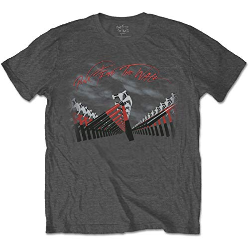 Pink Floyd The Wall Marching Hammers T-Shirt, Nero (Black Black), X-Large Uomo