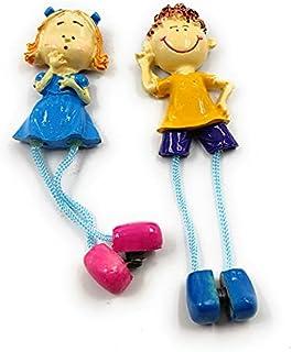 Shiani Handpainted Couple Poly Resin Fridge Magnet (Multi Colour)
