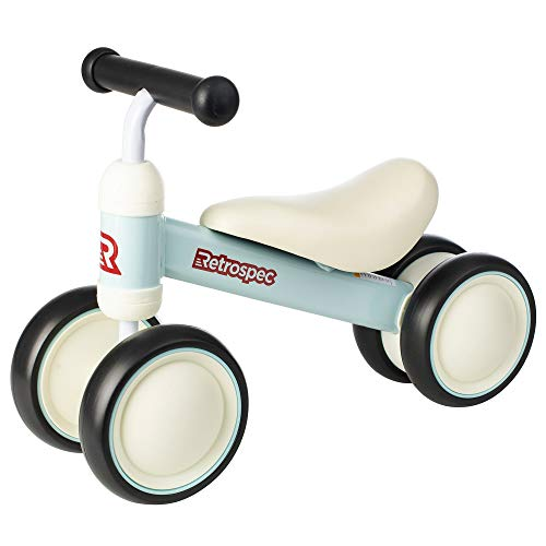 Retrospec Cricket Baby Walker Balance bike with 4 Wheels for ages 12-24 months, Powder Blue, Model:3656