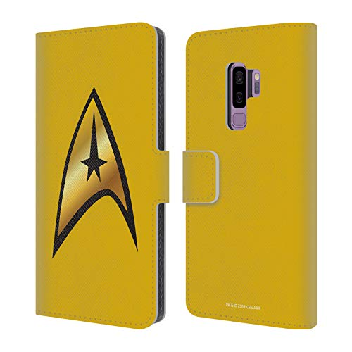 Head Case Designs Officially Licensed Star Trek Command Solo Uniforms and Badges TOS Leather Book Wallet Case Cover Compatible with Samsung Galaxy S9+ / S9 Plus