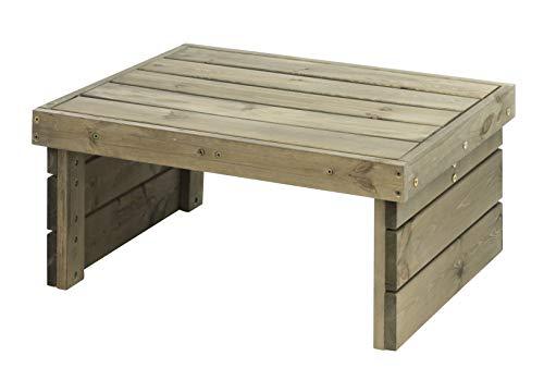 Spetebo Holz Lounge Tisch im Paletten Design - 70x59x32 cm - Outdoor Holztisch Garten Möbel