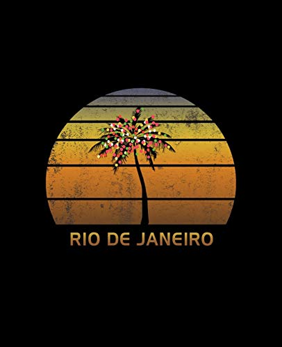 Rio De Janeiro: Christmas Journal Notebook With Retro Sunset. Complete Shopping Organizer Holiday Food Meal Party Planner Budget Expense Tracker With Soft Cover 7.5 x 9.25, 120 Pages.