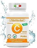 FitoHerbal Vitamina C Pura SENZA ADDITIVI Compresse Alto Dosaggio Integratore Acido Ascorbico...