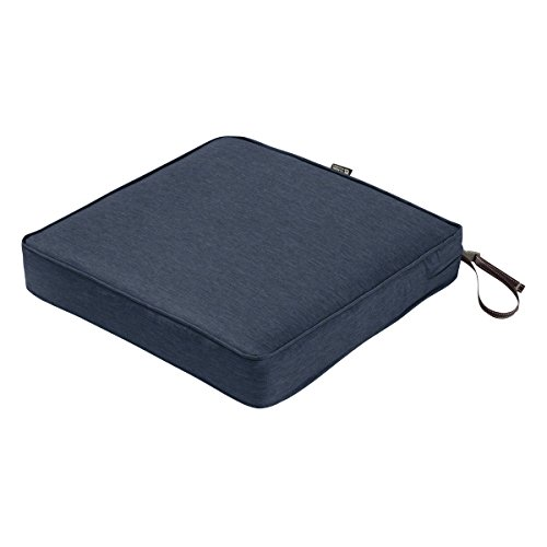 Classic Accessories Montlake Seat Cushion Foam & Slip Cover, Heather Indigo, 21x21x3' Thick