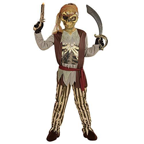 WIDMANN wdm03977?Disfraz para niños Pirata de Barco Fantasma (140cm/8?10años), marrón, XS