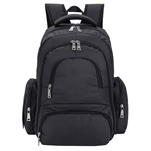 Cateep Waterproof Travel Diaper Backpack with Changing Pad and Stroller Clips