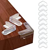 Barkah Corner Protector 12 Pcs Clear Baby Proofing Edge Guards, L-Shaped Soft Cushion Corner Protectors for Furniture, Durable Adhesive for Child Proof Baby Safety