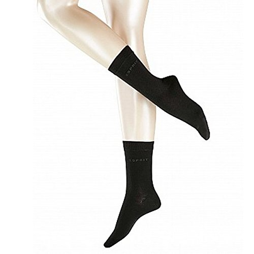ESPRIT Uni 2-Pack Damen Socken black (3000) 35-38 aus elastischem Material