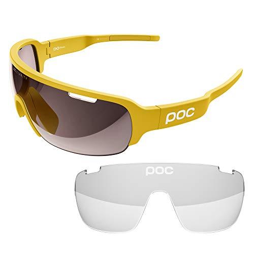 POC DO Half Blade w. extra Lens Sonnenbrille, Sulphite Yellow, One Size