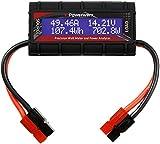 Powerwerx Watt Meter-PP, DC Inline Power Analyzer, 45A Continuous, 12 Gauge with Anderson Powerpole Connectors