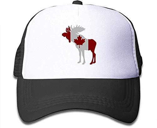 Preisvergleich Produktbild Voxpkrs Moose in Flag of Canada On Children's Trucker Hat,  Youth Toddler Mesh Hats Baseball Cap asdfghjklzxc30962
