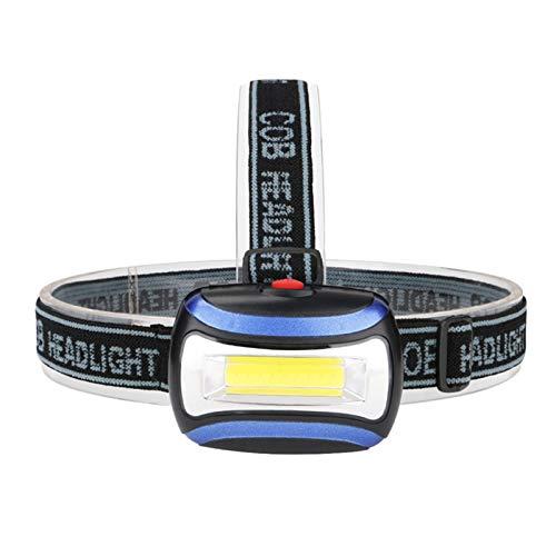 SHIYIMY Linternas Frontales Lámpara de antorcha de la luz de la luz de la luz de la luz de la Linterna de la Linterna del Faro de 3800lm por 3 * AAA Battery LED COB Faro para la Caza iluminación