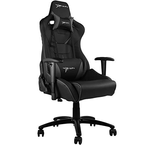 E-WIN ゲーミングチェア FL-BG1A(グレー) オフィスチェア リクライニング 肉厚 ひじ掛け 高さ調整 通気性 腰痛 椅子 幅広 最大荷重150kg