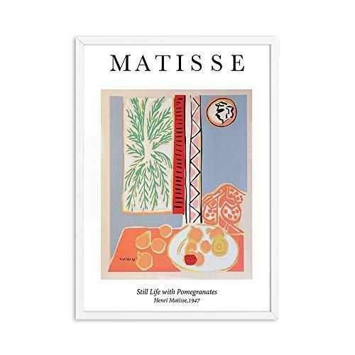 Henry Matisse carteles e impresiones vintage abstractos Goldfish pared arte museo imagen familia sin marco lienzo pintura A1 50x70cm