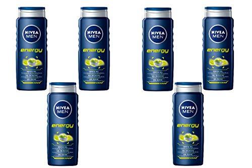 Nivea Men Energy Gel de Ducha - 6 de 500 ml. (Total 3000 ml.)