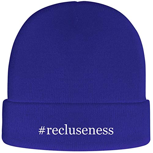 One Legging it Around #Recluseness - Soft Hashtag Adult Beanie Cap, Blue