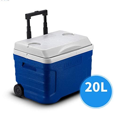 HFA Auto Kühlschrank-Kühlbox Große Räder 21/42 Liter Essen Trinken Picknick Strand Camping Isolierte Eisbeutel Kühlbox-Außenbier Party Kühlung Transportbox/A