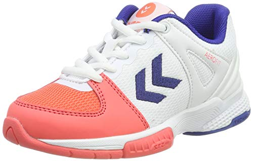 Hummel Aerocharge Hb200 Speed 3.0 Jr, Zapatillas de Balonmano Unisex Niños, Multicolor (Living Coral 3654), 31 EU