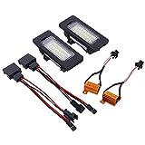 LOVELY Luces de matrícula de Coche 2pcs Car LED Número Licenciatura Lámpara de Luz Compatible con Skoda Octavia 3 Superb B6 Rapid Combi Yeti 5L Fabia MK2 MK3 Universal (Emitting Color : White)