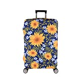 Luggage Cover, Suitcase Covers 19-30 Inch Expandable Anti-Scratch Luggage Protector Flower for Carry on Luggage S 19-20IN
