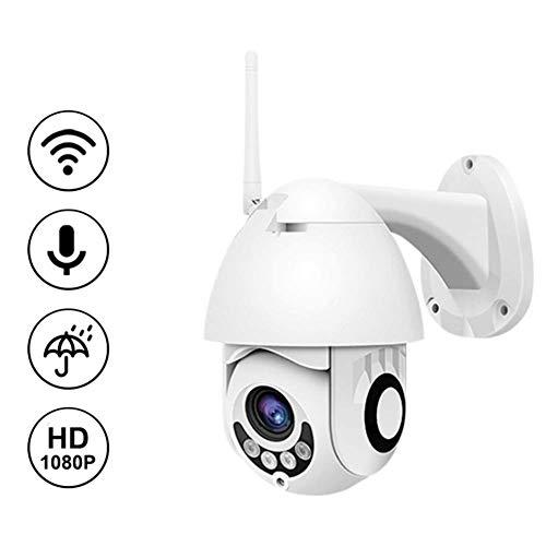 SKYY Cámara de vigilancia Exterior 1080P IP inalámbrico de cámaras de Seguridad de Soporte SD Impermeable al Aire Libre con Dos vías de Audio 60m visión Nocturna por Infrarrojos, IP66, mapas