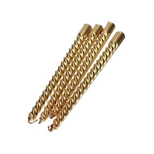Nicetruc 4Pcs Lange Gold Twist Taper Candle Spiral Taper Candle Taper Verdrehte Abendessen Esstisch Hochzeit Spiral Lange Kerzen Wachs (20.1cm)
