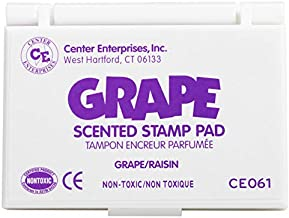 READY 2 LEARN Scented Stamp Pad - Grape - Purple - Non-Toxic - Fade Resistant - Fun Art Supplies for Kids