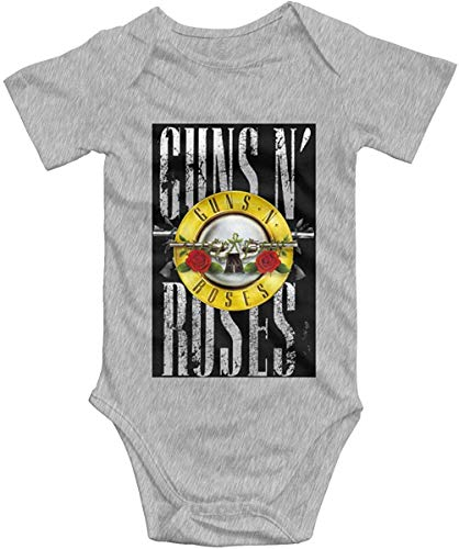 Guns N Roses GNR Logo Baby Boys Girls Onesies Body de Manga Corta