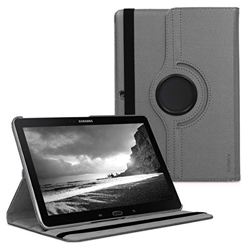 kwmobile Hülle kompatibel mit Samsung Galaxy Note 10.1 2014 Edition - 360° Tablet Schutzhülle Cover Case Anthrazit