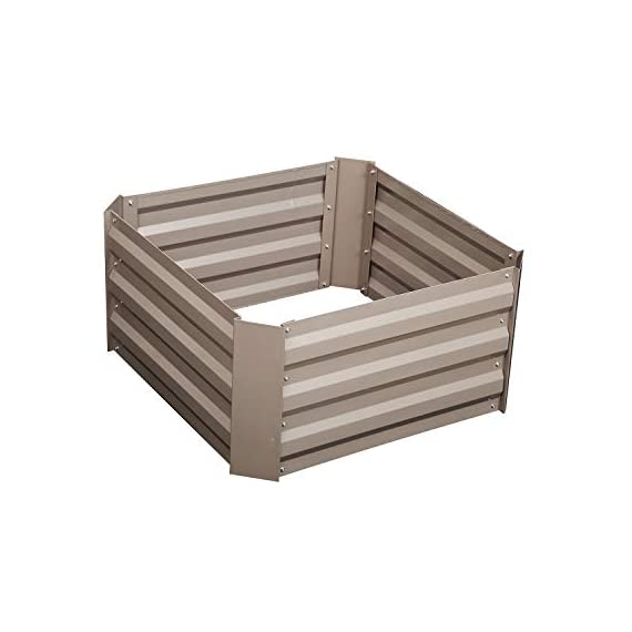 """Klismos 2'x2'garden bed metal outdoor galvanized steel planter box patio raised garden bed kit for vegetables/flower… 1 【overall dimensions】---- 94. 48""""(l)x47. 24""""(w)x11. 81""""(h) 【open-bottom garden bed】 【easy to assemble for the outdoor planter boxes】"""