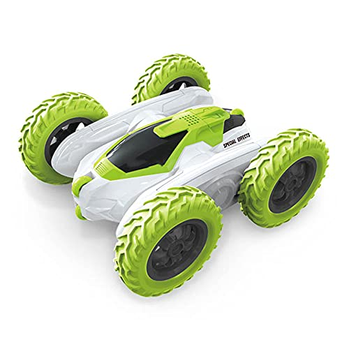 ZDYHBFE RC Watch Remote Control Car Swing Arm Rotating Stunt Car Self-programming Charging Rolling Acrobatic Remote Control Car Orange And Green Two Colors Children's Toy Cars Boys And Girls Toys