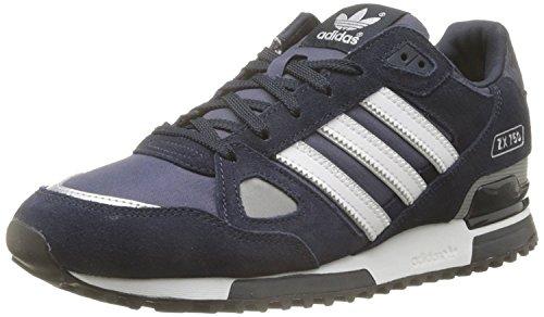 adidas Herren Zx 750 Ba7677 Sneaker, Schwarz/Marineblau/Grau, Größe 41