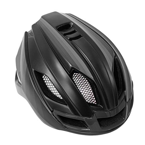 FREEDOH Bicycle Helmet, Adjustable Lightweight Cycling Helmet, ABS Impact Resistant Male and Female Cycling Helmet with Tail Light,Black