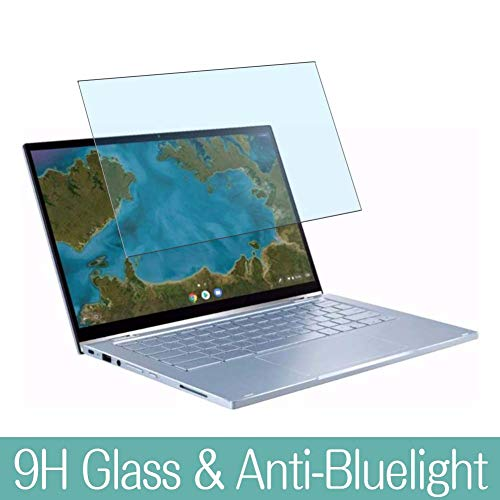 Synvy Anti Blue Light Tempered Glass Screen Protector for ASUS Chromebook Flip C433 / C433TA 14' Visible Area 9H Protective Screen Film Protectors