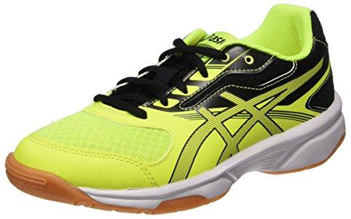 Asics Upcourt 2 GS, Scarpe Sportive Indoor Unisex-Bambini, Giallo (Safety Yellow/Dark Grey/Black 0795), 39 EU