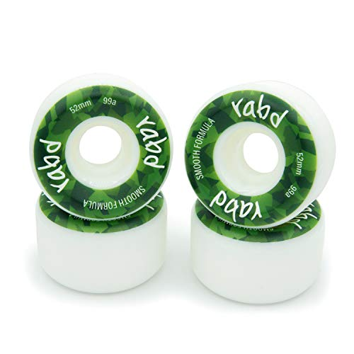 rabd Street Skateboard Wheels 52mm 99a Smooth Formula - White