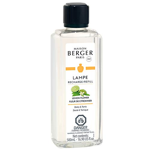 Lemon Flower | Lampe Berger Fragrance Refill by Maison Berger | for Home Fragrance Oil Diffuser | Purifying and perfuming Your Home | 16.9 Fluid Ounces - 500 milliliters | Made in France