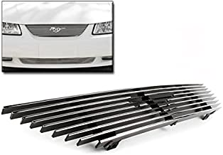 ZMAUTOPARTS Upper Billet Grille Grill Insert Pony Cutout For 1999-2004 Ford Mustang