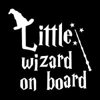 UYEDSR 車のステッカー 17.8X17.5CM LITTLE WIZARD ONBOARDリアウインドシールドカーステッカー警告ビニールデカール-Silver_2pc S