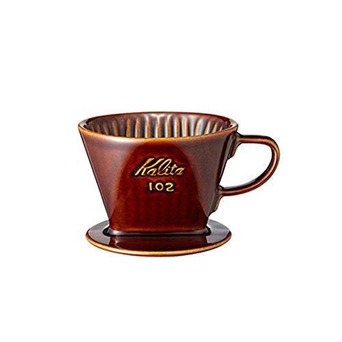 (カリタ)Kalita 102-ロト(ブラウン) 陶器ドリッパー 2-4人用 02003 ドリッパー klita-023