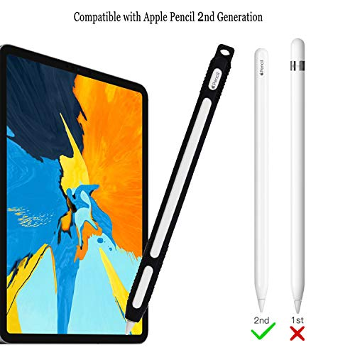 ColorCoral Silicone Case for New Apple Pencil 2nd Generation Ultra Light iPencil2 Sleeve Holder Case Compatible with iPad Pro 2018