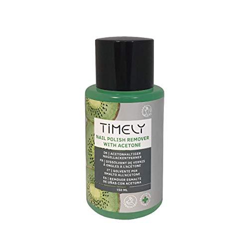 Timely Snelle nagellakverwijderaar op basis van aceton met kiwigeur, 150 ml