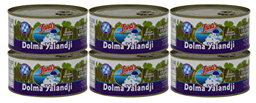 Fantis Dolmas Stuffed Grape Leaves, vine leaves stuffed with rice, ready to eat meals - Mediterranean meal in a can pure wraps cooked rice, tasty food for a great snack 10 Ounce (Pack of 6)