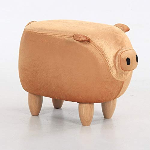 NXYJD Taburete pequeño Asiento, Animal del Banco alcancía de Zapatos Sofá heces (Color : E)