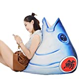 マグロ抱き枕 魚 リアルぬいぐるみ ふわふわ もちもち 寝具  クッション お祝い ギフト (80cm)